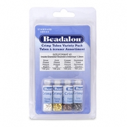 Beadalon Crimp Tube Variety Pack (1.3mm) Silver, Gold, Copper, Hematite
