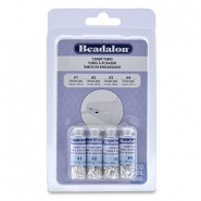 Beadalon Crimp Tube Variety Pack (0.8mm, 1.3mm, 1.5mm, 1.8mm) Silver