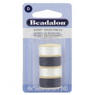Beadalon Nymo Wire 0.3mm 4-pack White, Black
