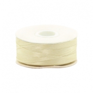 Beadalon Nymo Wire 0.3mm Cream White