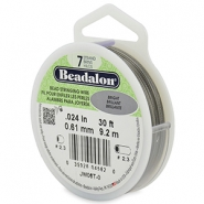 Beadalon stringing wire 7 strand 0.61mm Bright Stainless Steel