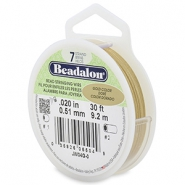 Beadalon stringing wire 7 strand 0.51mm Gold