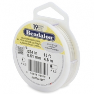 Beadalon stringing wire 19 strand 0.61mm Silver