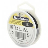 Beadalon stringing wire 19 strand 0.46mm Black