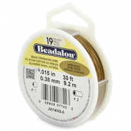 Beadalon stringing wire 19 strand 0.38mm Satin Gold