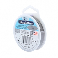 Beadalon stringing wire 49 strand 0.61mm Bright Stainless Steel