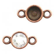 Findings TQ metal setting 2 loops for Chaton SS39 Copper (Nickel Free)