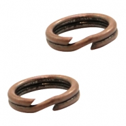 Findings TQ metal split ring/double ring 7.2mm Copper (Nickel Free)