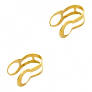 Findings TQ metal calottes 4.5mm Gold (Nickel Free)