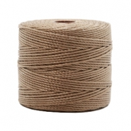 Nylon S-Lon cord 0.6mm Medium Brown