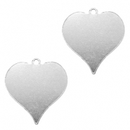 ImpressArt stamping blanks charms heart 20mm Aluminum Silver