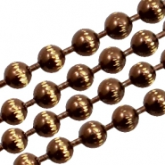 Ball chain gold line 3mm Brown