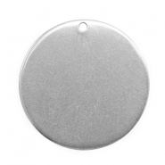 Stainless steel charms 25mm Silver