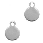 Stainless steel charms 11x8mm Silver