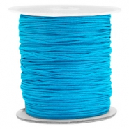 Macramé bead cord 1.0mm True Blue
