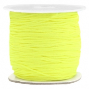 Macramé bead cord 0.7mm Fluor Yellow