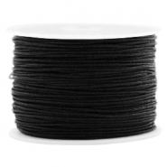 Macramé bead cord 1.0mm Black
