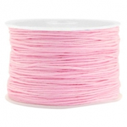Macramé bead cord 1.0mm Bright Pink