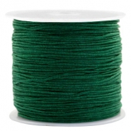 Macramé bead cord 0.8mm Atlantic Deep Green