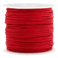 Macramé bead cord 0.8mm Port Red