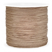 Macramé bead cord 0.8mm Light brown