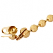 Basic Quality metal end cap for 1.2mm ball chain Gold