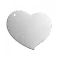 ImpressArt stamping blanks charms heart 18mm Aluminum Silver