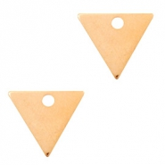 Designer Quality metal for ImpressArt charm triangle 14x12mm Rose Gold (nickel free)