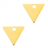 Designer Quality metal for ImpressArt charm triangle 14x12mm Gold (nickel free)