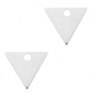 Designer Quality metal for ImpressArt charm triangle 14x12mm Antique Silver (nickel free)