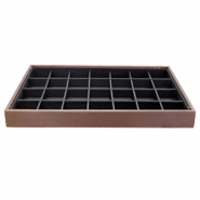 Jewellery display 28 compartments Brown-Black