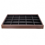 Jewellery display 20 compartments Brown-Black