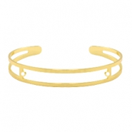 DQ European metal findings basic bracelet 9x60mm with two loops Gold (nickel free)