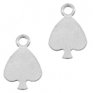 Stainless steel charms heart Silver