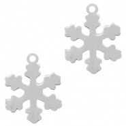 Stainless steel charms snowflake Silver