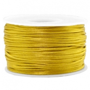 Macramé bead cord 1.5mm satin Mustard Green