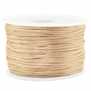 Macramé bead cord 1.5mm satin Champagne Gold