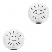 DQ European metal beads with eye 6mm Antique Silver (nickel free)