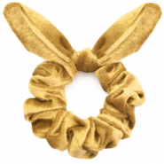 Scrunchie velvet hair tie bow Mineral Yellow Gold