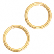 Stainless steel findings jumprings 5mm Gold