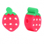 Polymer beads strawberry Red-Green