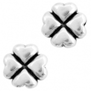 DQ European metal beads 4 Hearts Antique Silver (nickel free)