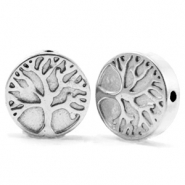 Hematite beads tree of life 10mm Silver Grey