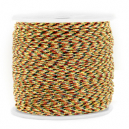 Macramé bead cord 0.8mm Mixed Brown-Gold