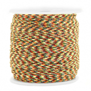 Macramé bead cord 0.8mm Mixed Brown