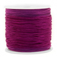 Macramé bead cord 0.8mm Royale Aubergine purple