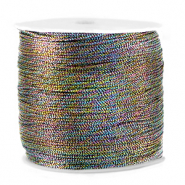 Macramé bead cord metallic 0.5mm Anthracite Mix