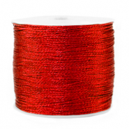 Macramé bead cord metallic 0.5mm Deep Red