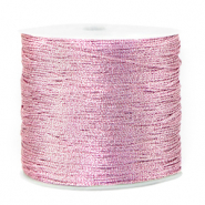 Macramé bead cord metallic 0.5mm Orchid Bloom Rose