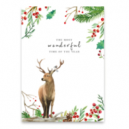 "Jewellery cards ""the most wonderful time of the year"" White-brown"